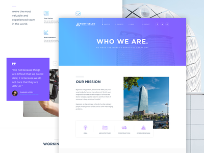 About Us Page - Architecture Concept free sketch architecture buildings clean design about page typography ux website user experience user interface web design
