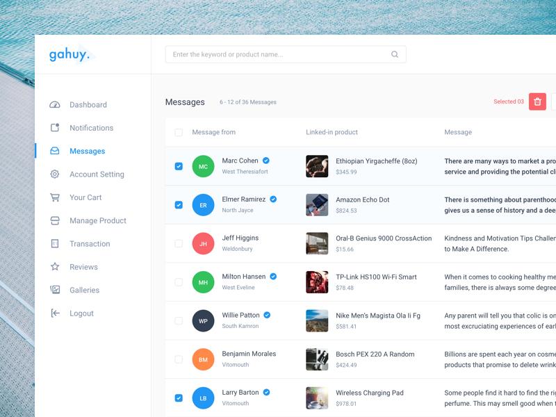 Dashboard - Messages [WIP] business vietnam ux ui design b2b web app admin inbox message dashboard
