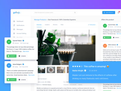 Dashboard - Product Detail & Review Page business vietnam ux ui design review web app admin manage product dashboard