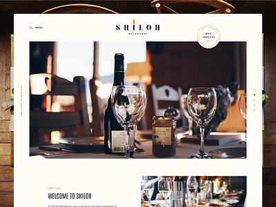 Shiloh Restaurant from Melbourne 🍽 home homepage website table wine drink receipt menu food melbourne jewish kosher restaurant design web vietnam