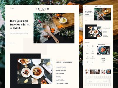 Shiloh - Functions Page 👨🏻🍳 functions dish menu kosher restaurant layout web ui vietnam