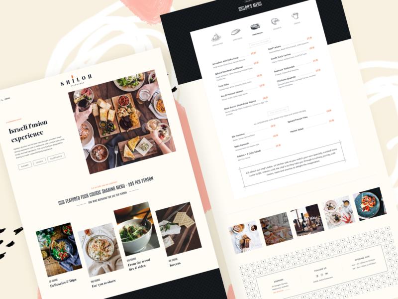 Shiloh - Menus Page 🍖 food and beverage dinner lunch dessert food menu drinks food and drink jewish kosher food table menu restaurant restaurant design website vietnam web layout