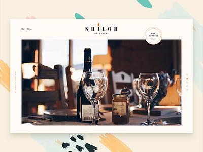 Shiloh - Navigation Interaction wine drink reservation table restaurant food navigation homepage animation website vietnam layout ux web ui