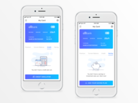 Banking App - Empty State for Credit & Saving