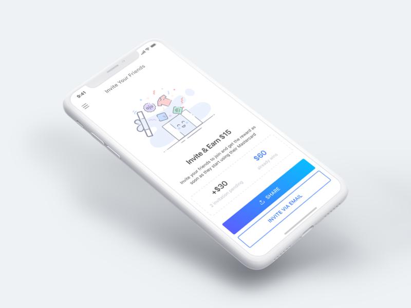 Invite Friend 👋 mobile ui vietnam friend referral invite mobile finance bank app bank