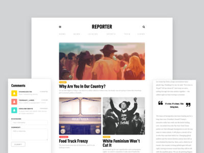 Reporter Site • Interactive Redesign