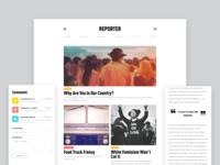 Reporter Site • Interactive Redesign