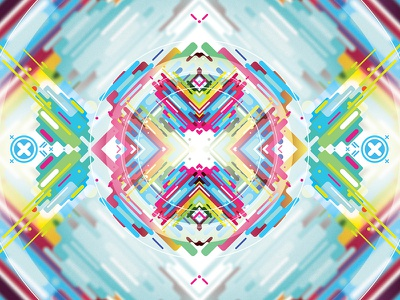 Colorful Opinion Type 02 flat lines color clean symmetry pattern vector