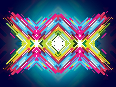 Colorful Opinion Type 04 flat lines color clean symmetry pattern vector