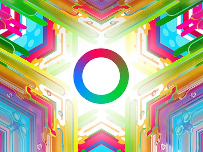 Fusion Cube Iris rgb fusion cube lines pattern abstract 3d