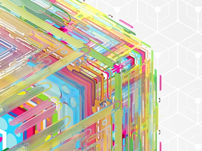 Fusion Cube Crop rgb fusion cube lines pattern abstract 3d