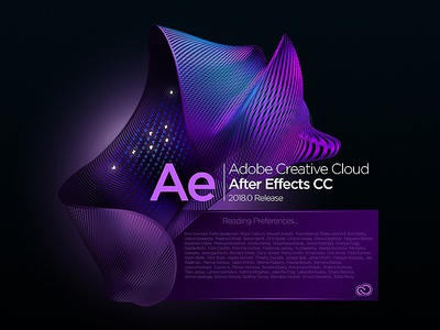 After Effects Splash Screen concept concept illustrator audition indesign lightroom effects after photoshop cloud creative cc adobe