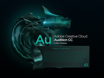 Audition Splash Screen concept concept illustrator audition indesign lightroom effects after photoshop cloud creative cc adobe