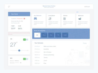 Explore Smart Home  control smarthome home smart clean design web app ux ui