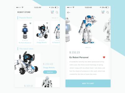 Day UI Challenge #012  - E-Commerce Shop clean ecommerce robot design app ux ui
