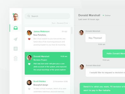 Day UI Challenge #013 - Direct Messaging messaging direct email dashboard design web ux ui