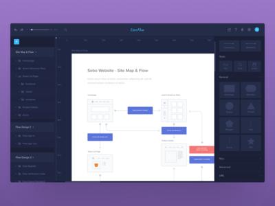 Dark User Flow Web Apps web ux userflow ui flowchart diagram apps