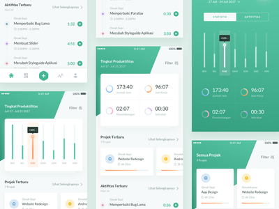 Time Tracker App statistic ux ui design working remote stopwatch timer app tracker time