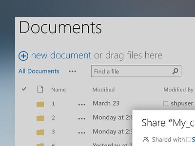 Freebie: File list and share dialogue, retina ready [.psd] psd freebie interface ui sharing file explorer metro