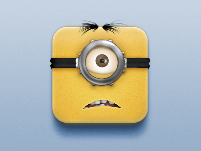 Waaaaaaat?App minion despicable me ios icon app icon butt what whaaaat waaaaaaaat fun practice appicon