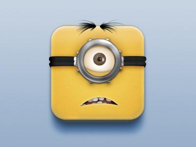 Waaaaaaat?App minion despicable me ios icon app icon butt what whaaaat waaaaaaaat fun practice appicon