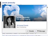 Freebie: Facebook mini-profile in tooltip [.psd]