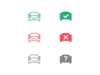 VIN verification icons