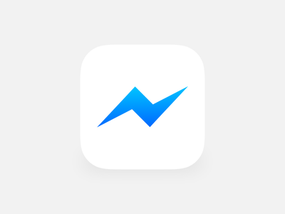 Messenger messenger rebounds fun practice facebook ios gradient lightning