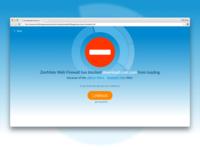 ZenMate Web Firewall Block Screen