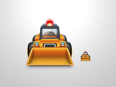 Bulldozer Icon level map game build bulldozer vehicle icon
