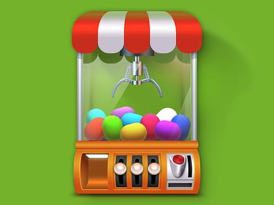 Toymachine Icon Illustration store resources button machine toy icon