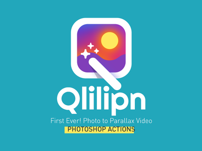 Qlilipn Logo creative market qlilipn video conver picture photo action logo icon photoshop