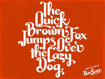 Harsontype Font Pangram sans fontlab fontself creativemarket pangram typeface font