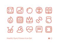 Fitness Icon Set 01
