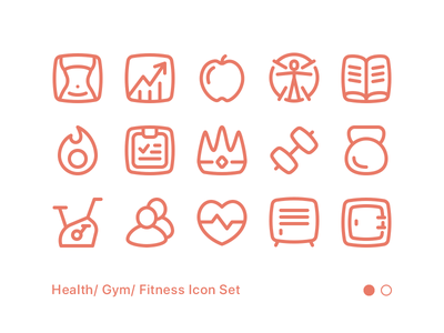 Fitness Icon Set 01 calorie diet barbell dumbell exercise health workout gym fitness icon set icon