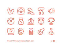Fitness Icon Set 02
