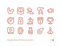 Fitness Icon Set 02