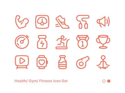 Fitness Icon Set 02 apple watch running weight strong yoga icon icon set fitness gym workout health exercise