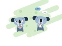 Koala Love Illustration