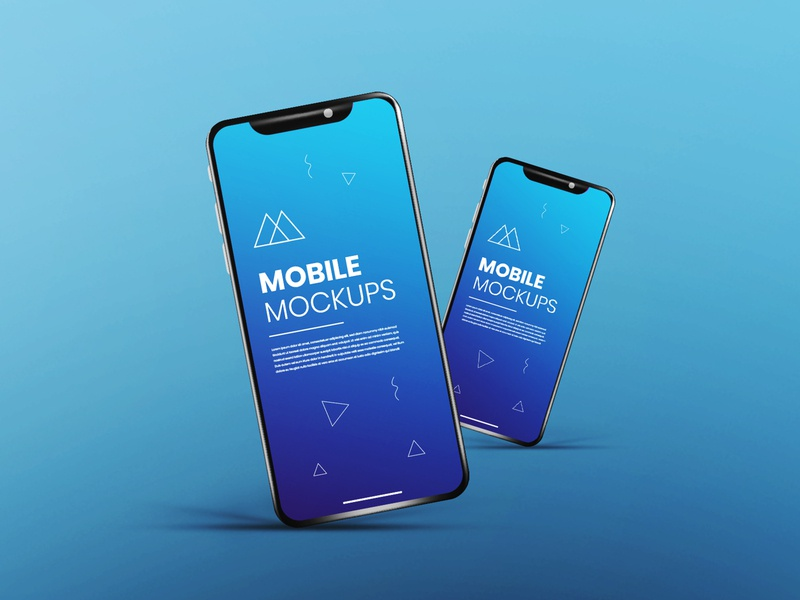 Realistic & clean app screen white blue smartphone mockup phone mockup ux mockup ui mockup app mockup