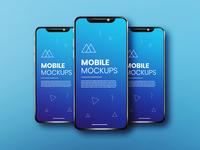 Realistic & clean app screen white blue smartphone mockup phone mockup ux mockup ui mockup app mockup