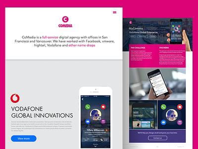 Home pink new site portfolio homepage