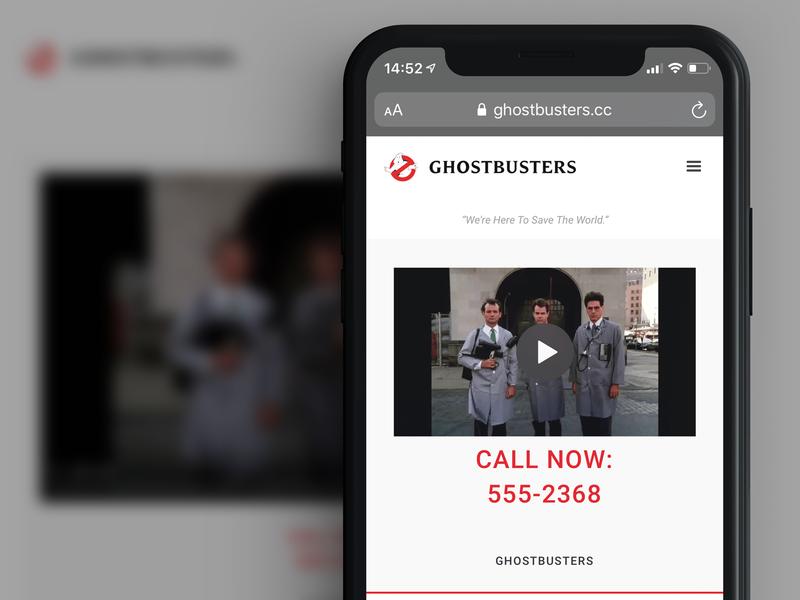 Fictional Ghostbusters Website - Update bill murray website webflow webdesign ghostbusters