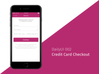 DailyUI 002 - Credit Card Checkout