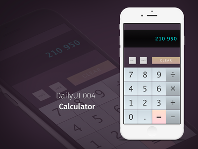 DailyUI 004 - Calculator calculator dailyui004 dailyui 004