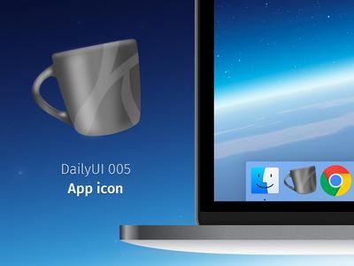 DailyUI 005 - App Icon mug coffee app icon icon dailyui005 dailyui 005