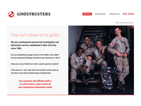 Fictional Ghostbusters Website