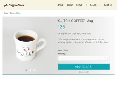 DailyUI 012 - E-Commerce Shop glitch coffee glitch coffee item shop ecommerce 012 dailyui012 dailyui