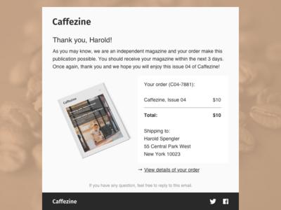 DailyUI 017 - Email Receipt coffee email email receipt 017 dailyui017 dailyui