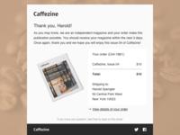 DailyUI 017 - Email Receipt